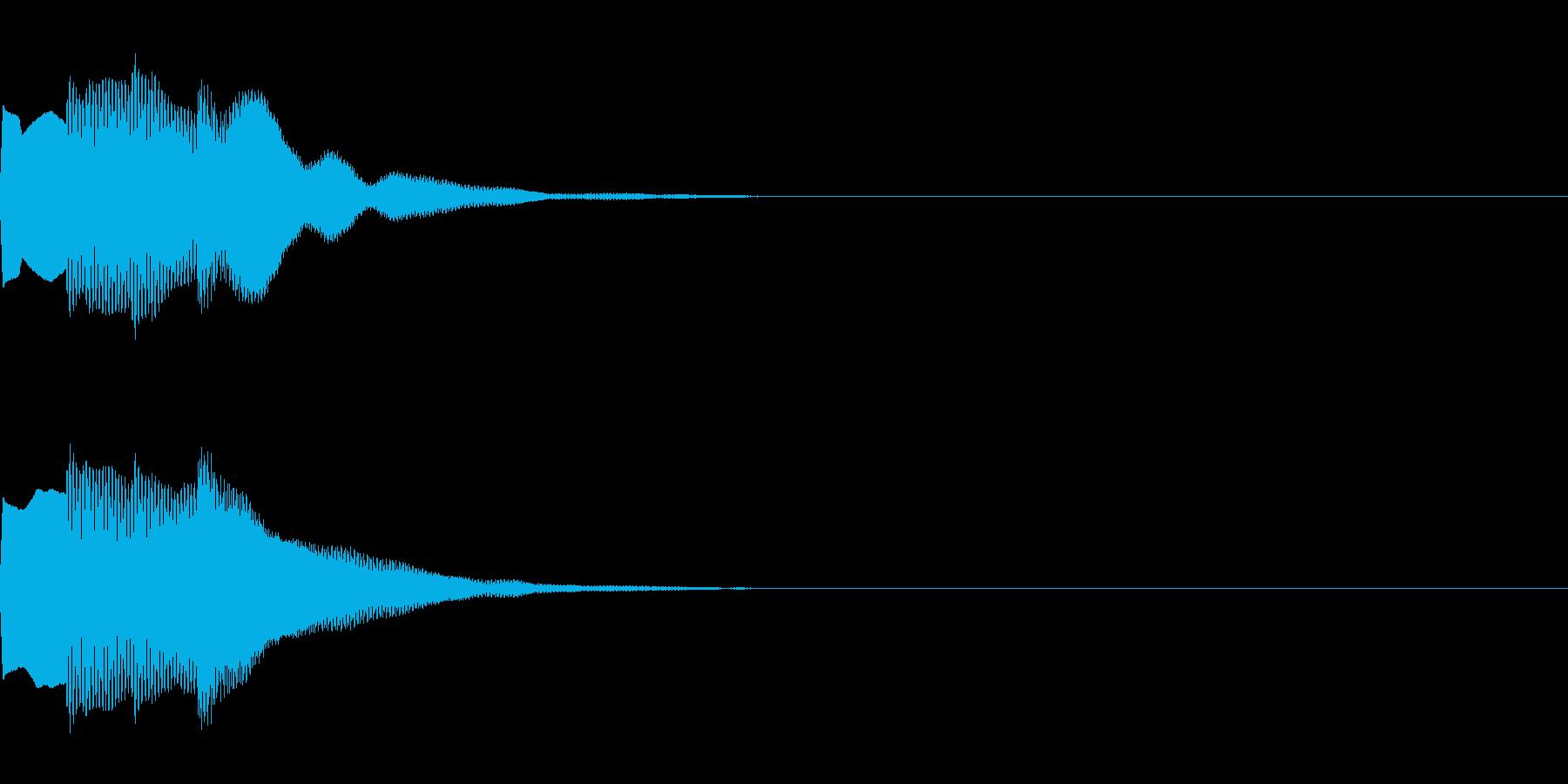 決定音73_シンセAIの再生済みの波形