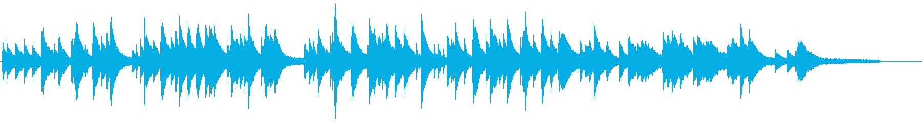 透明感のあるピアノ楽曲の再生済みの波形