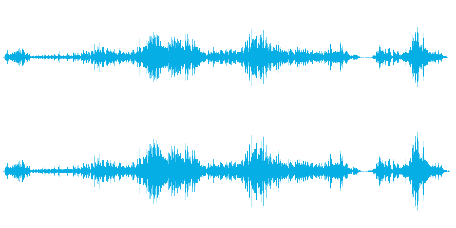 うぅ〜(うめき声)の再生済みの波形