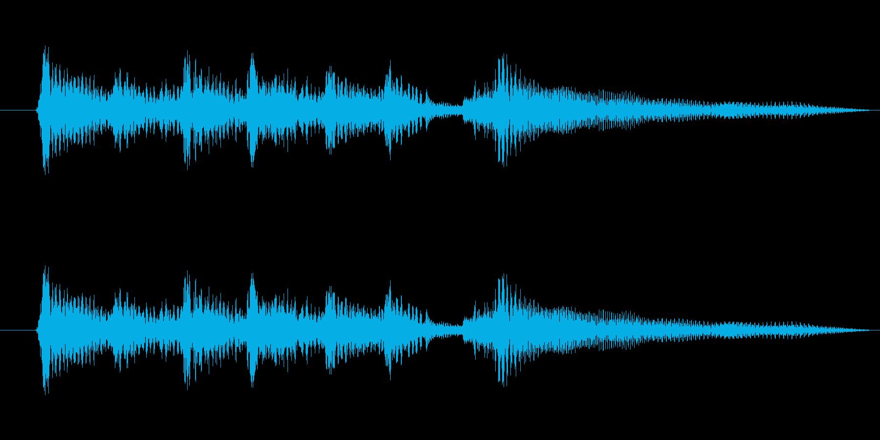 ちょっとアンニュイなアコーステックギターの再生済みの波形