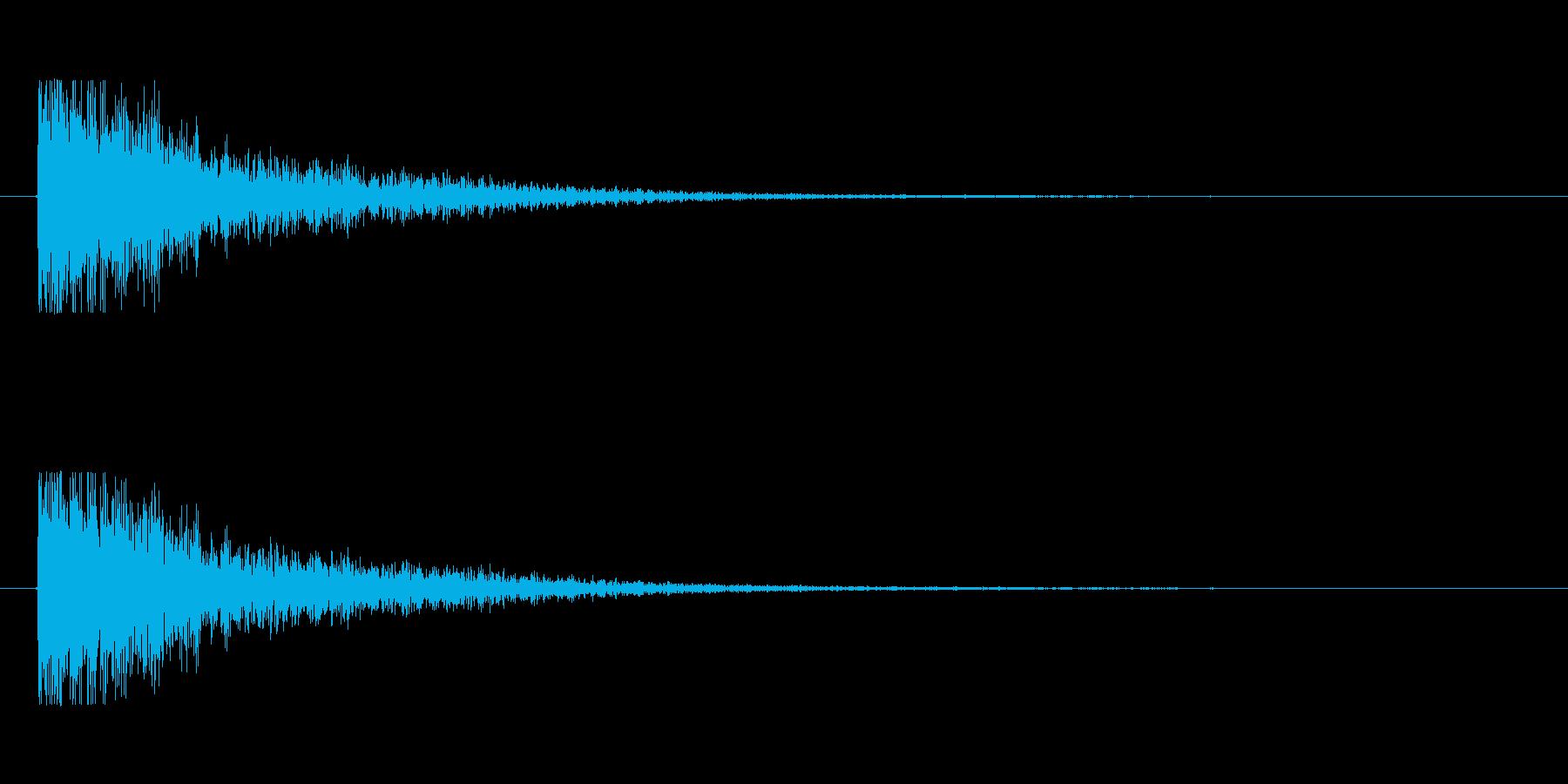 【大砲01-5】の再生済みの波形