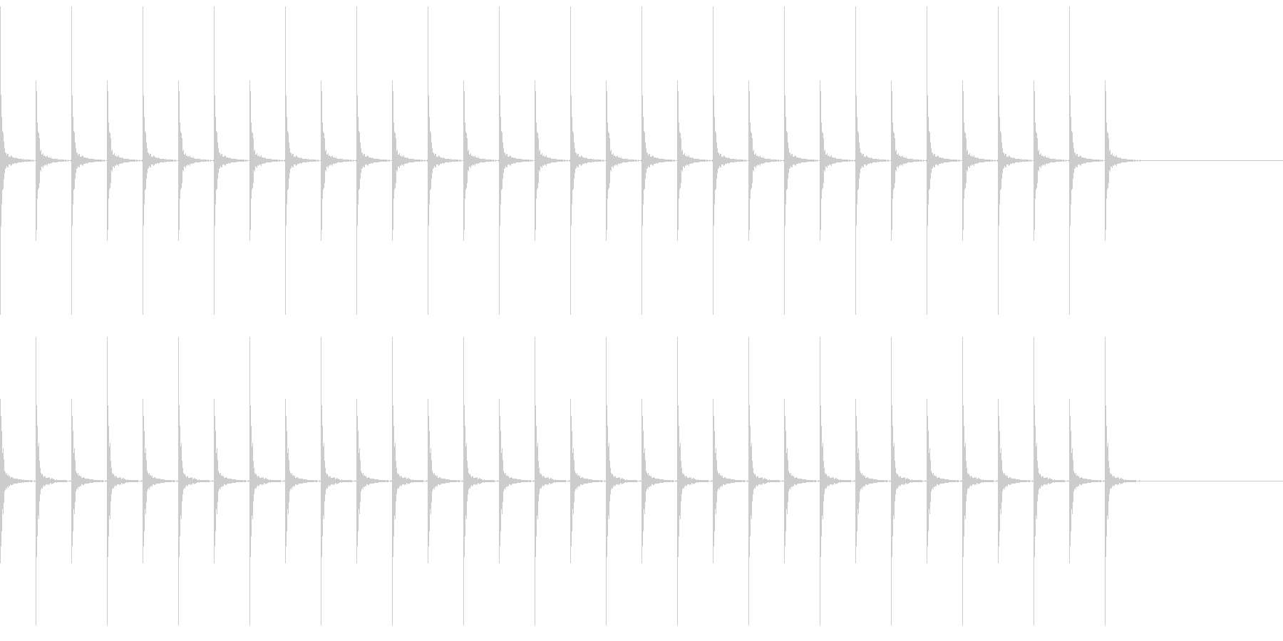 カンコン 振り子時計の未再生の波形