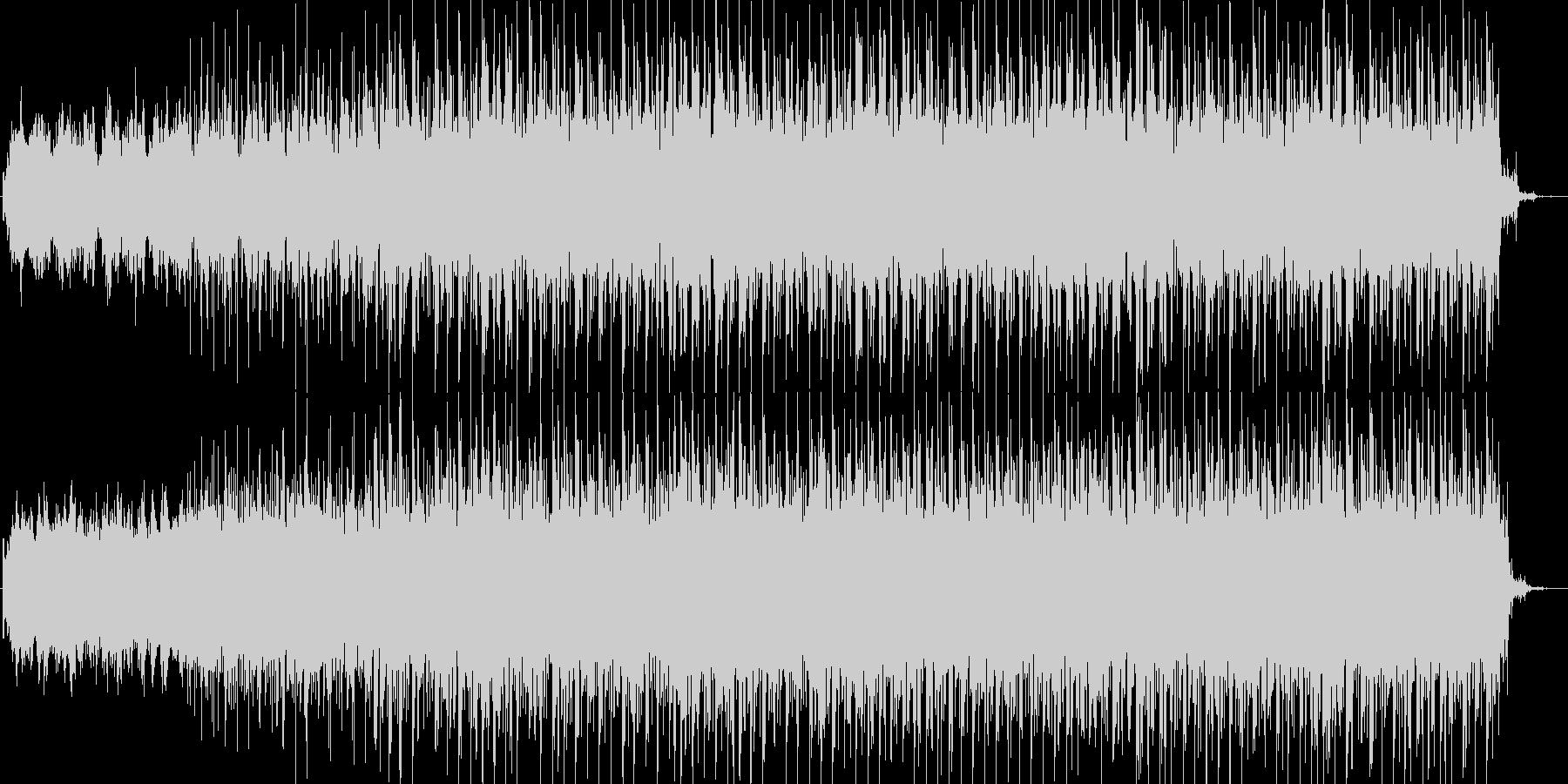 神秘的なテクノ系BGMの未再生の波形