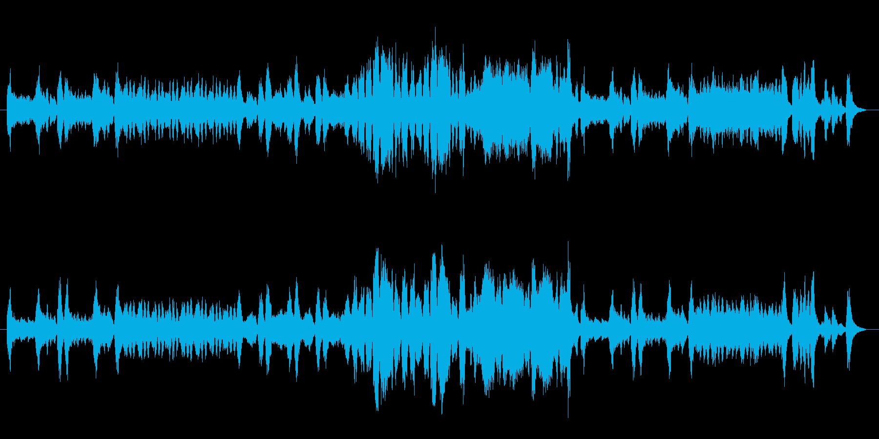 チェンバロが印象的でクラシカルな曲の再生済みの波形