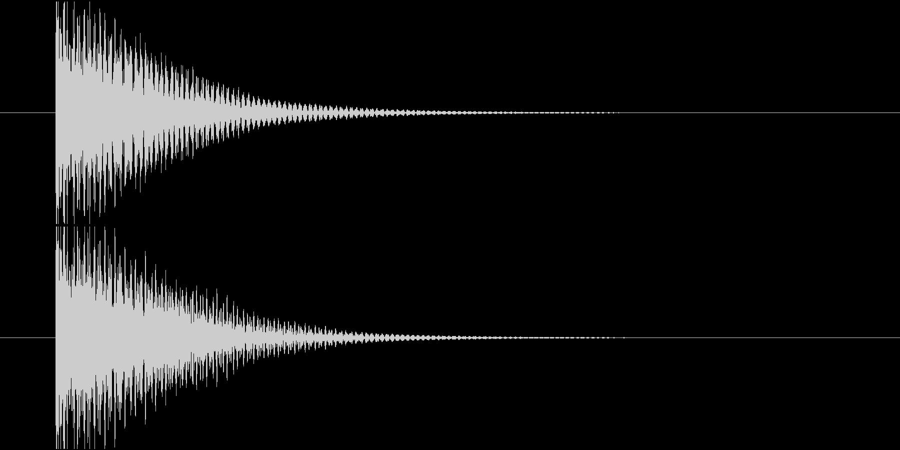 何か項目を選択する時の音です。の未再生の波形