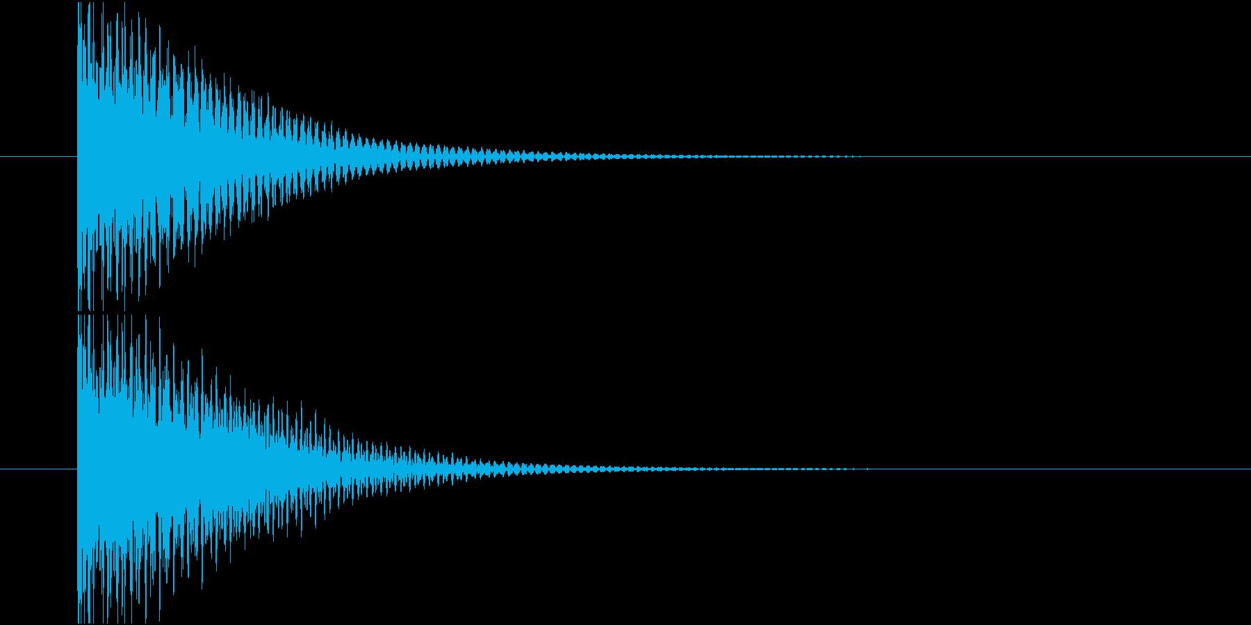 何か項目を選択する時の音です。の再生済みの波形