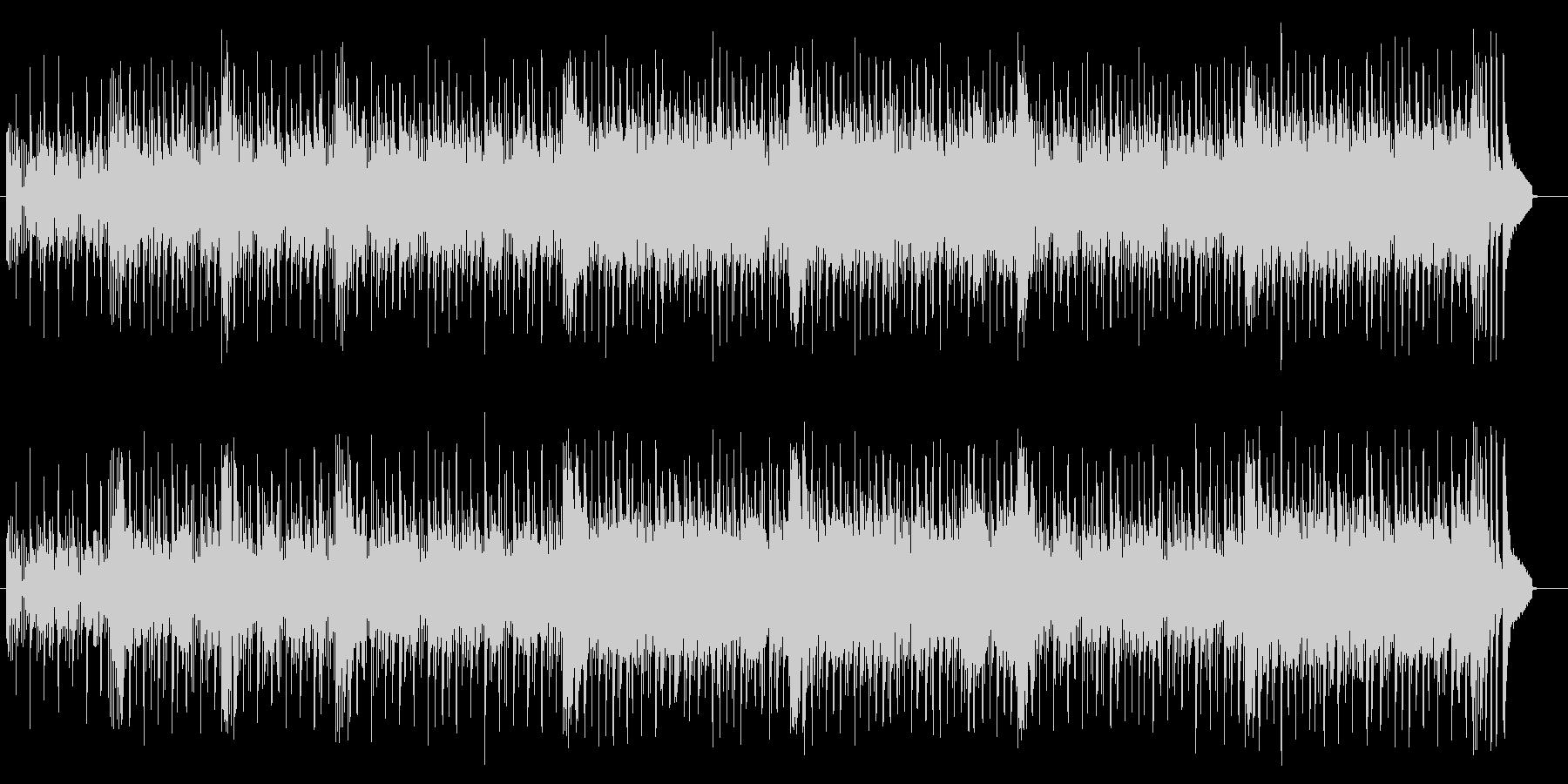 軽やかなコンピューターミュージックの未再生の波形