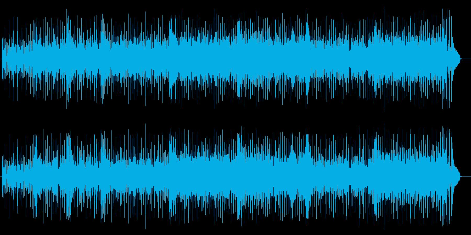 軽やかなコンピューターミュージックの再生済みの波形