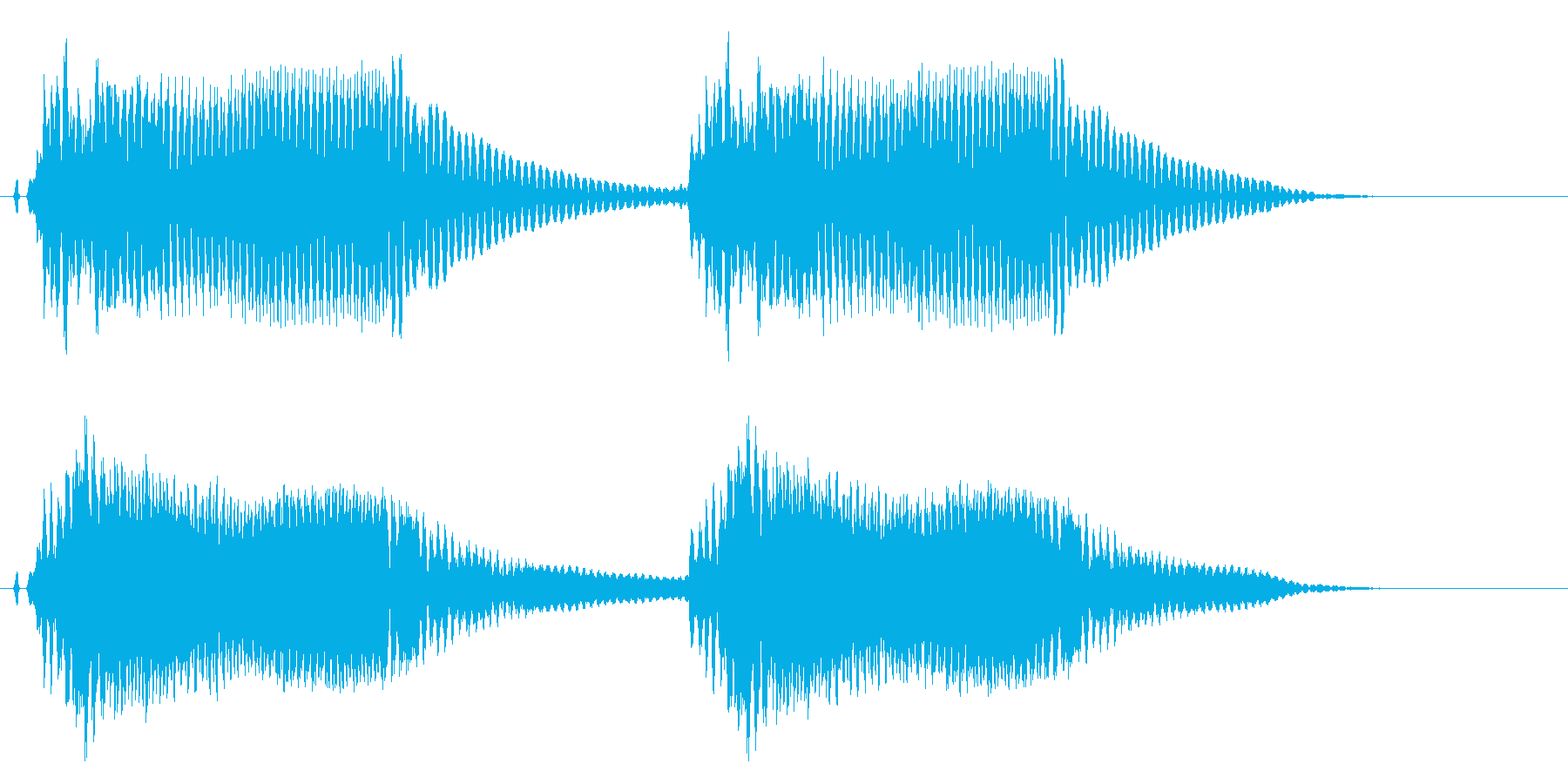 注意、警告音、アラート警報の効果音です!の再生済みの波形