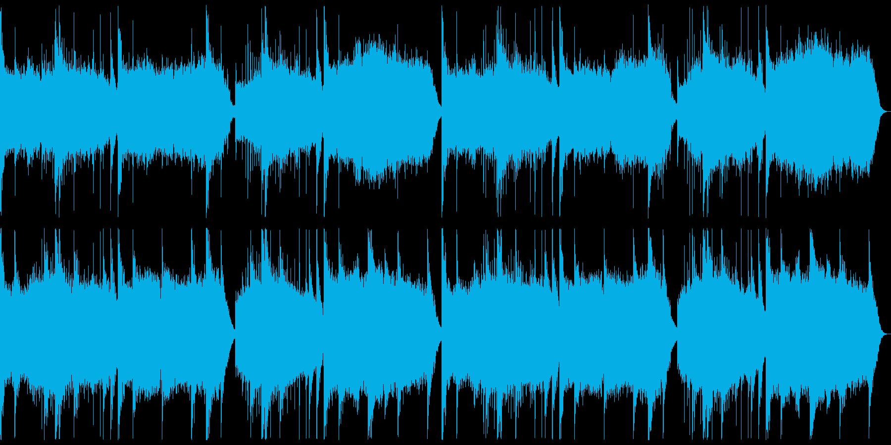 和風、雅楽風の穏やかなBGMの再生済みの波形