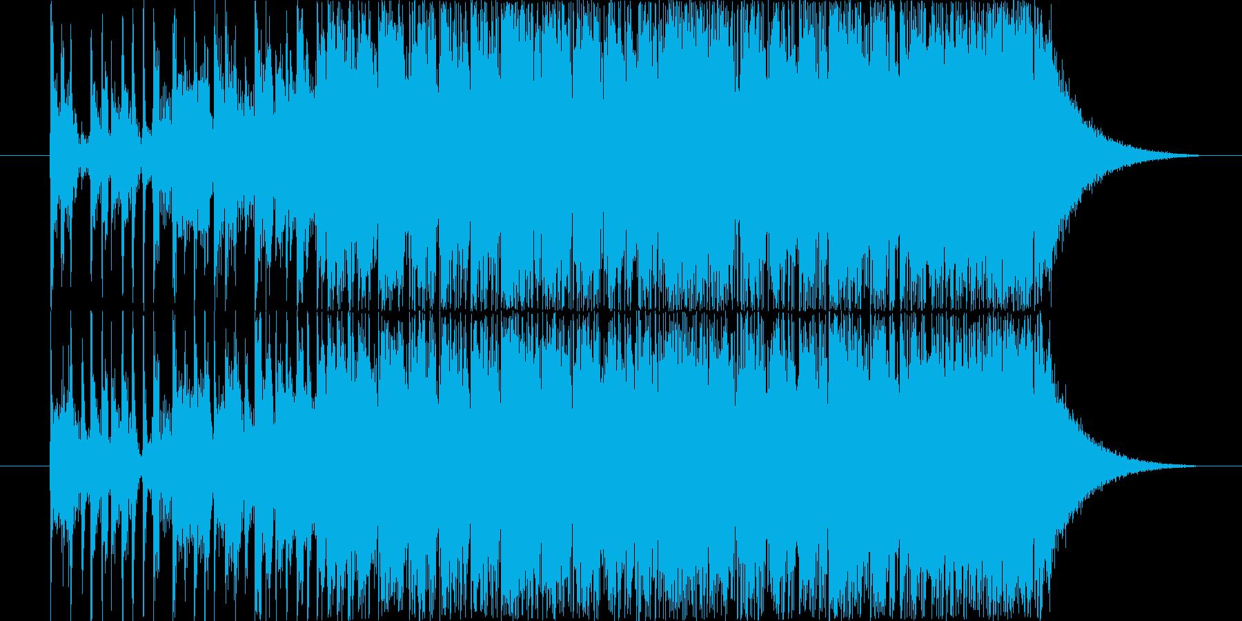 カッコいいロック系ジングルです。の再生済みの波形