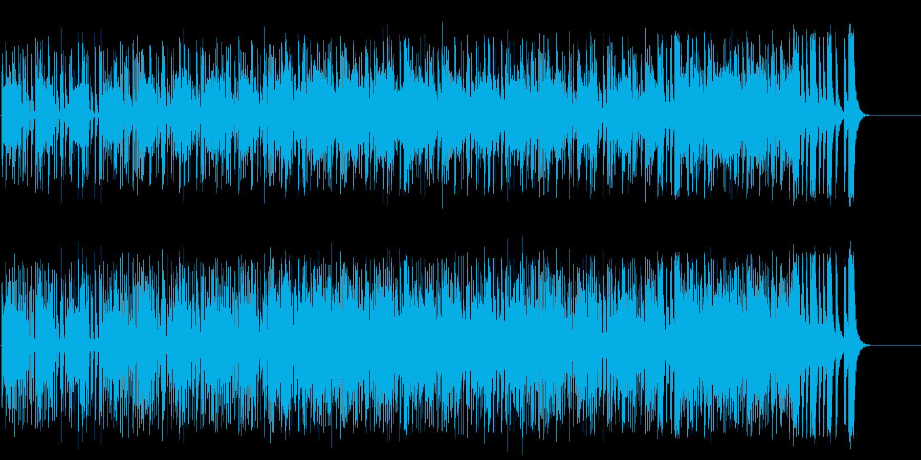 ロボットが動き回るとぼけたテクノポップの再生済みの波形