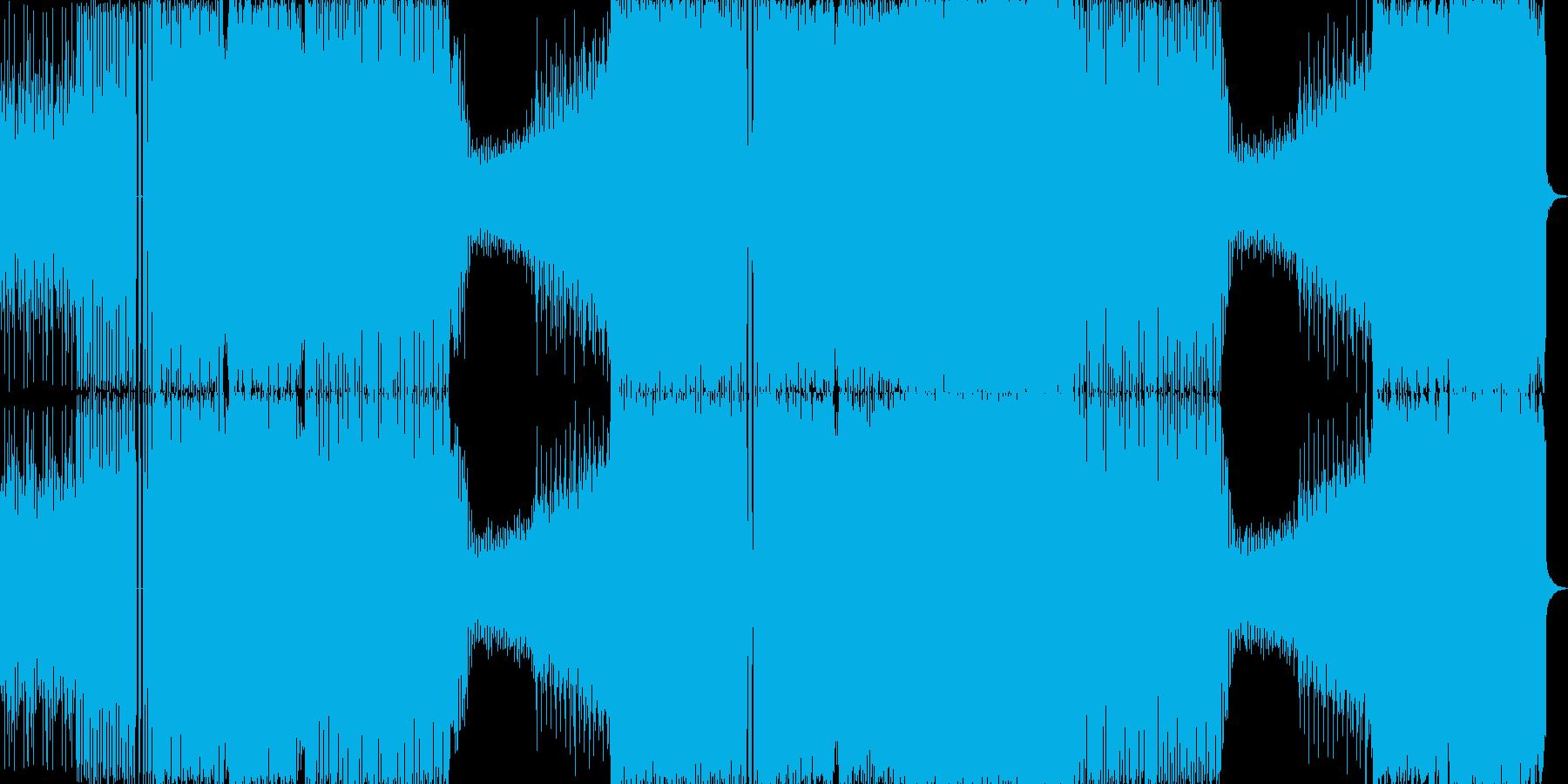 ドラマチックな展開のEDM系インストの再生済みの波形