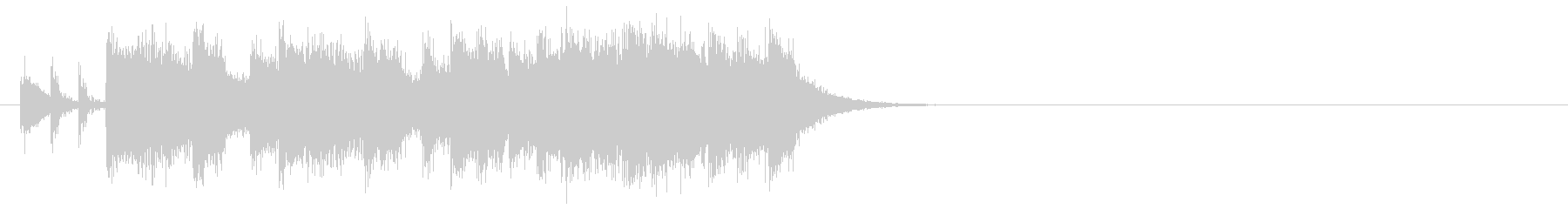 ロック/ヘヴィ・メタル系ジングルの未再生の波形