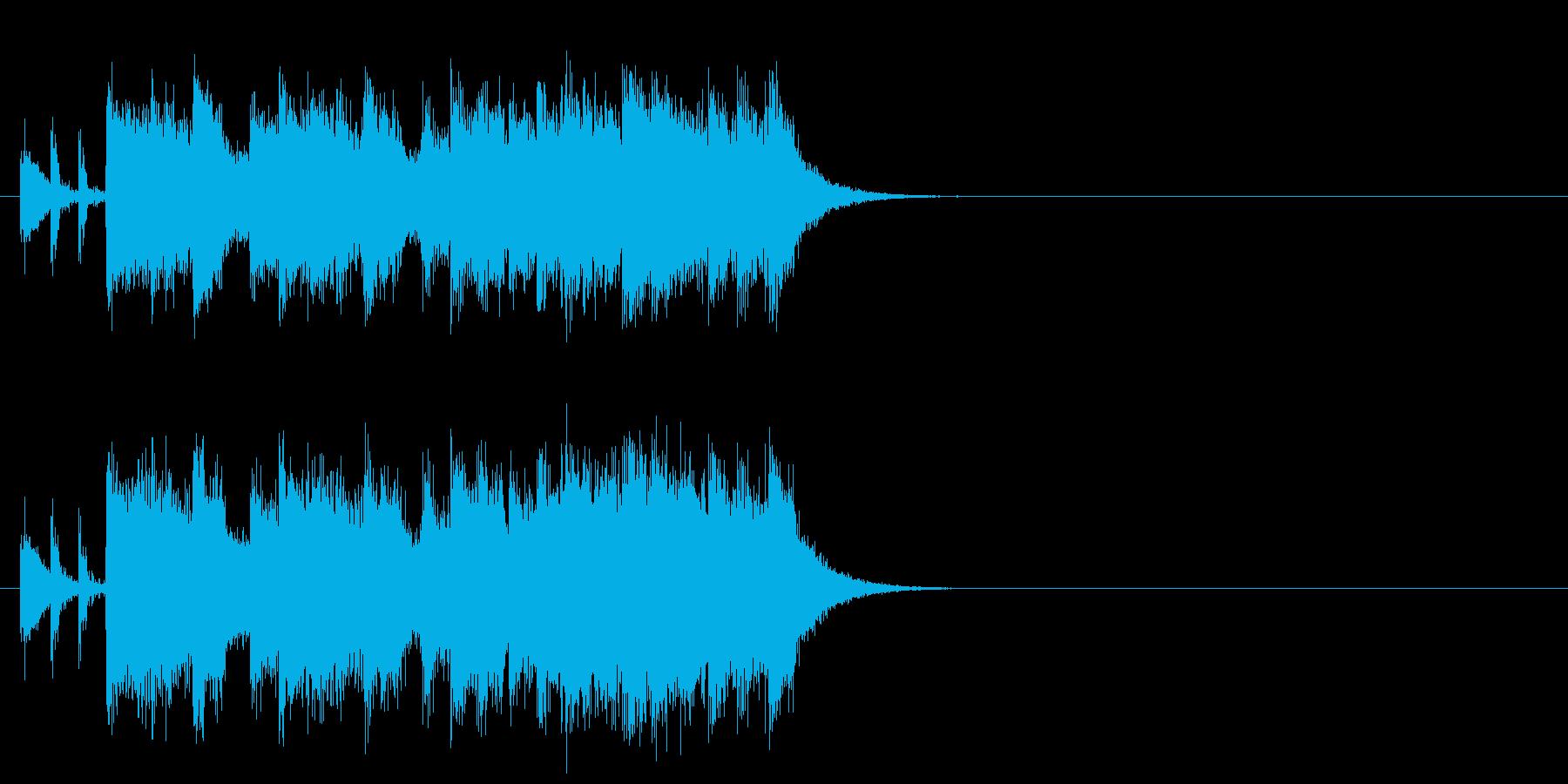 ロック/ヘヴィ・メタル系ジングルの再生済みの波形