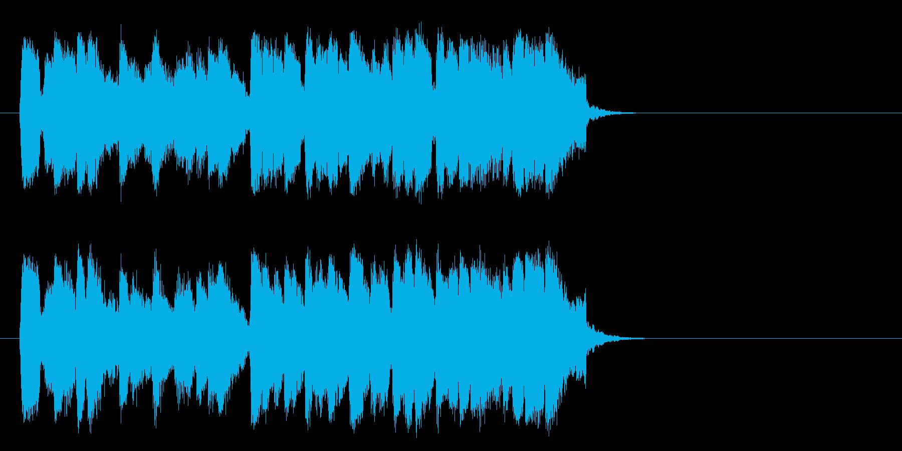 懐しいビッグバンドジャズ(サビ)の再生済みの波形