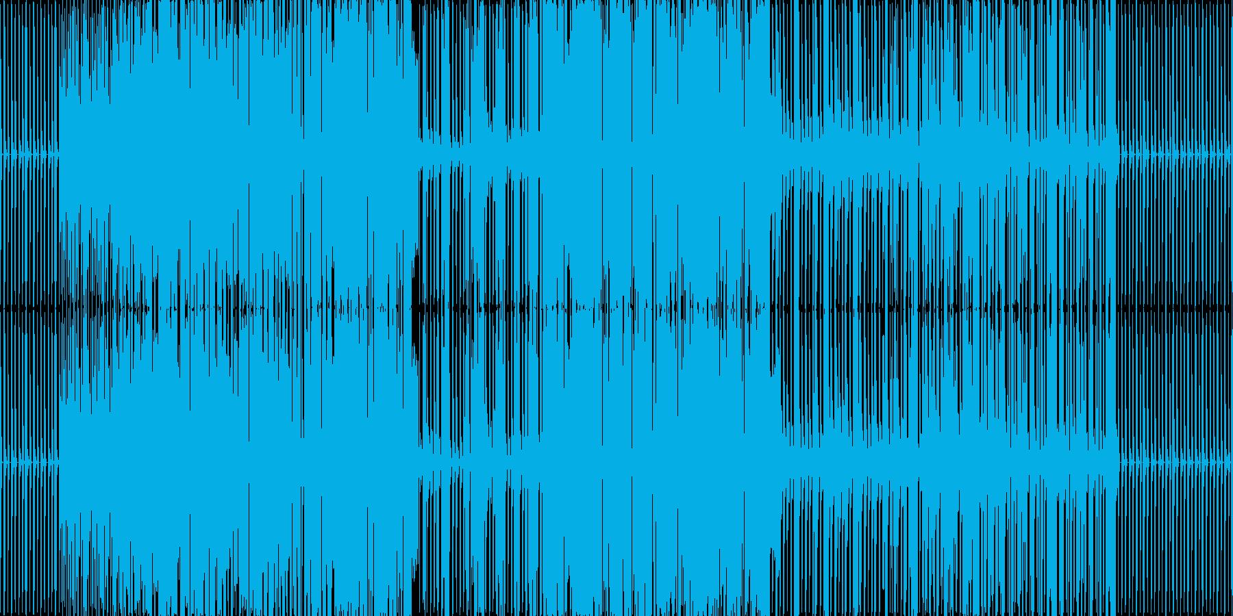 激しい曲ですの再生済みの波形