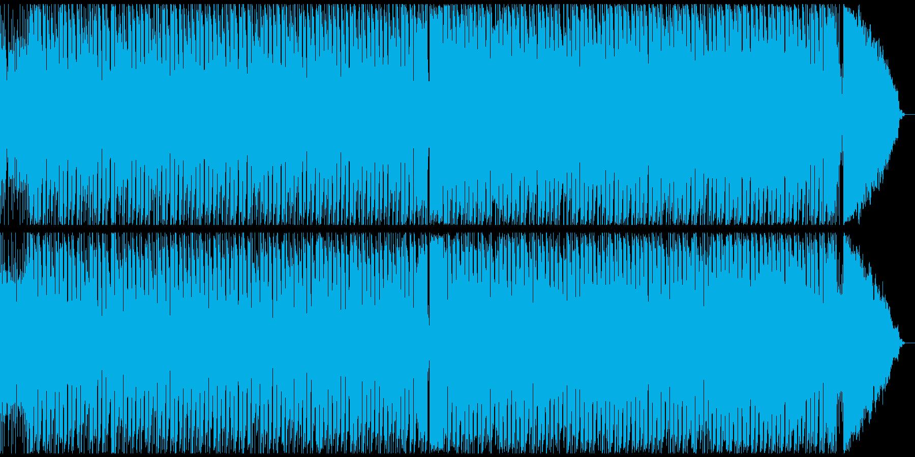 ロックギター元気なブルース メロディ抜きの再生済みの波形