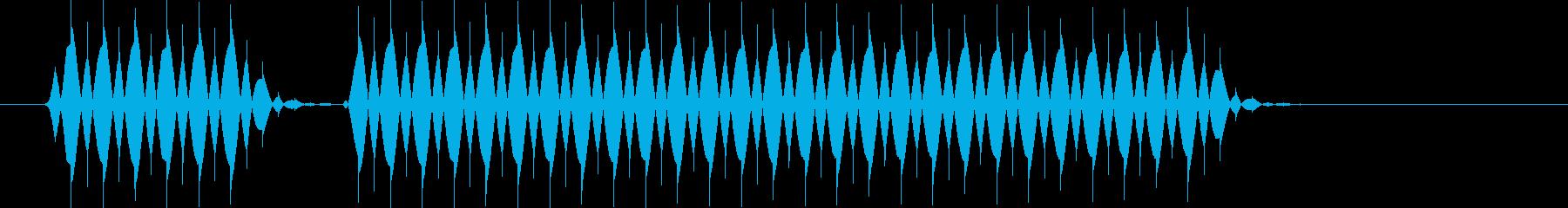 ぶぶーの再生済みの波形