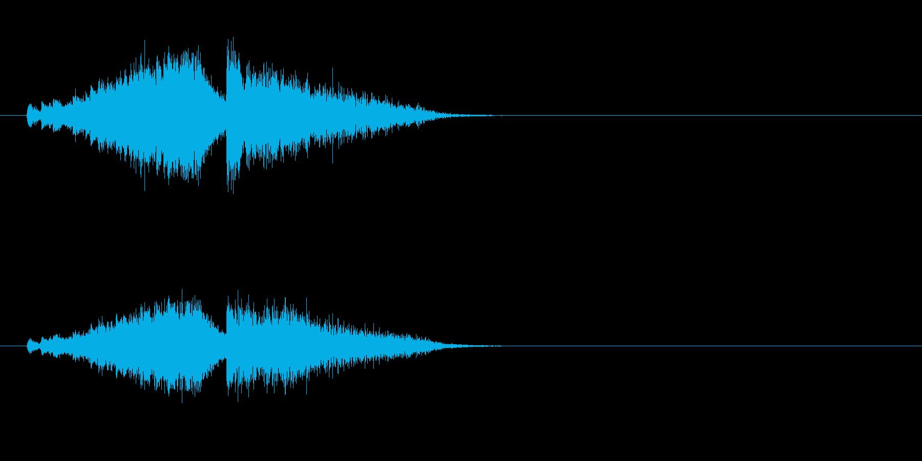 ジングル(SE)の再生済みの波形