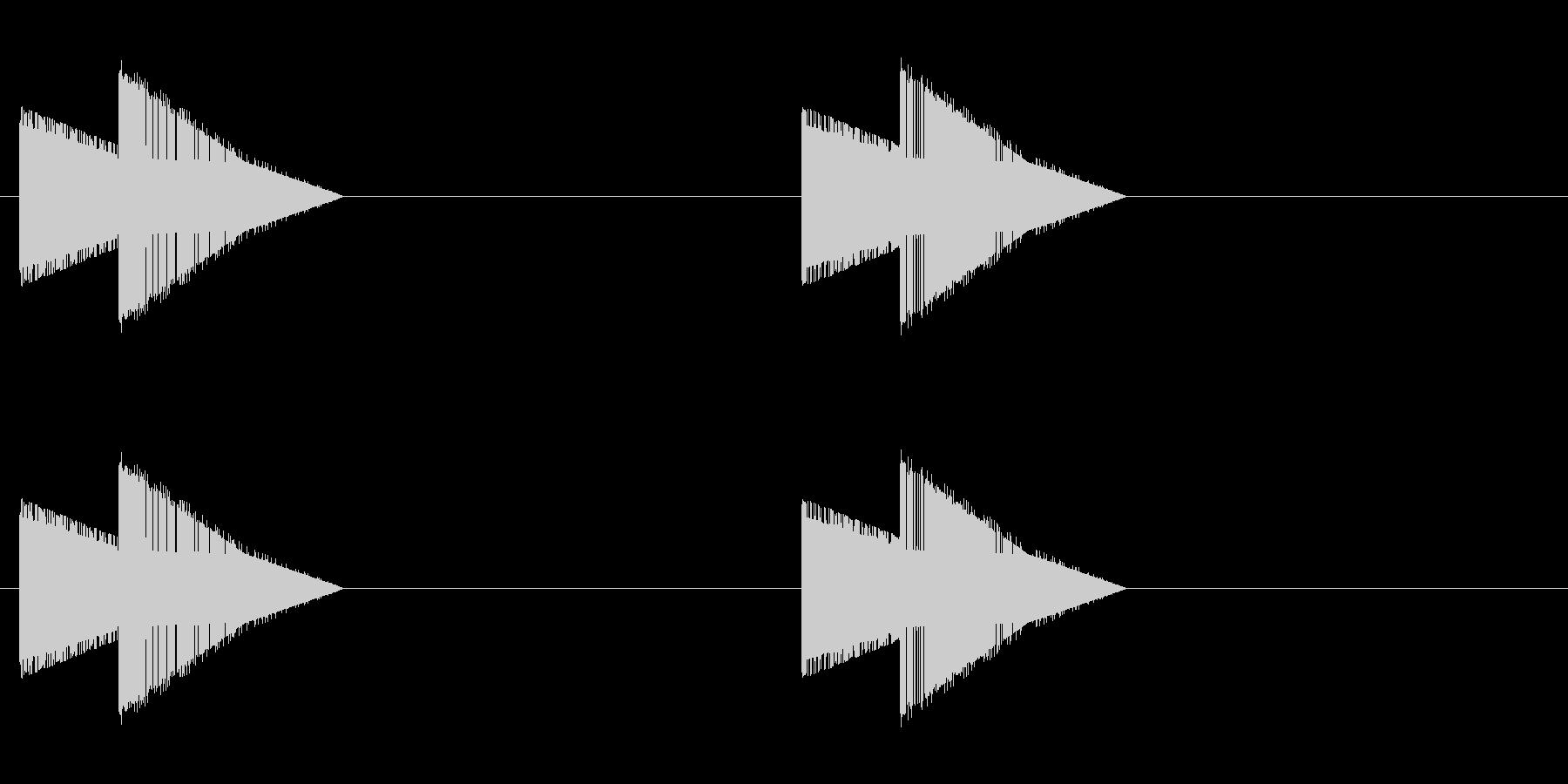 レトロゲーム風・巨大な足音・ループ再生の未再生の波形
