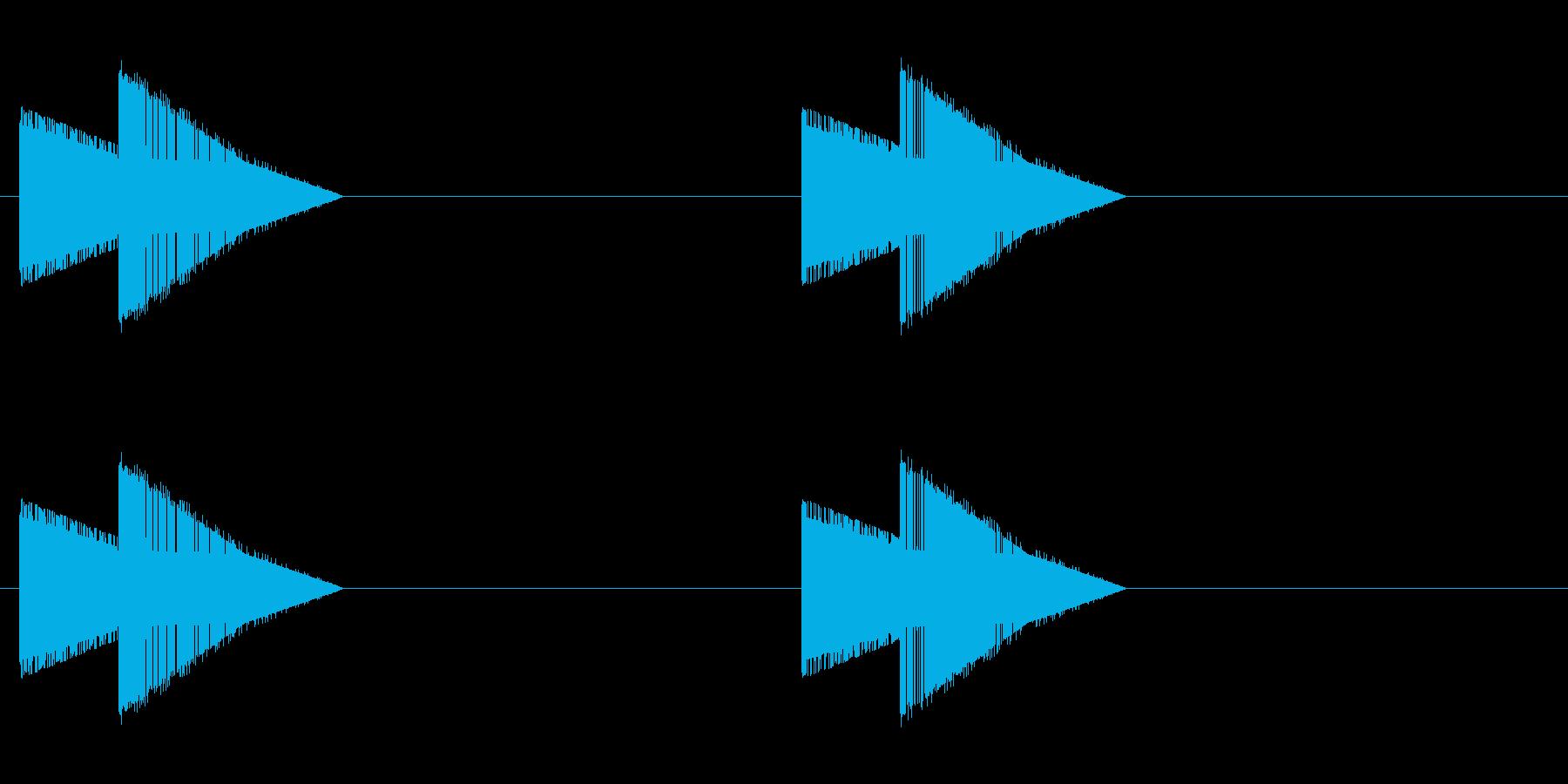 レトロゲーム風・巨大な足音・ループ再生の再生済みの波形
