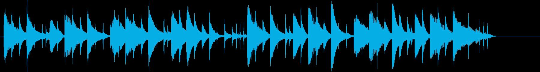ほのぼの系のシンプルな短い曲の再生済みの波形