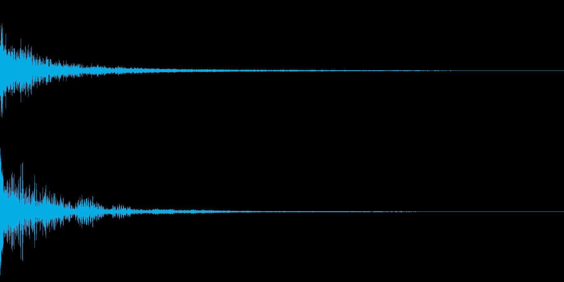 ホラー系アタック音15の再生済みの波形