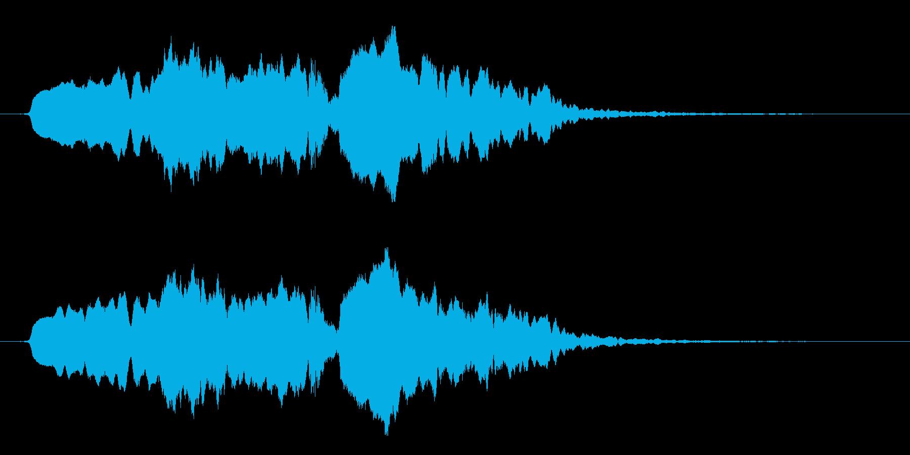 「うらめしや〜」_1 お化け屋敷の再生済みの波形