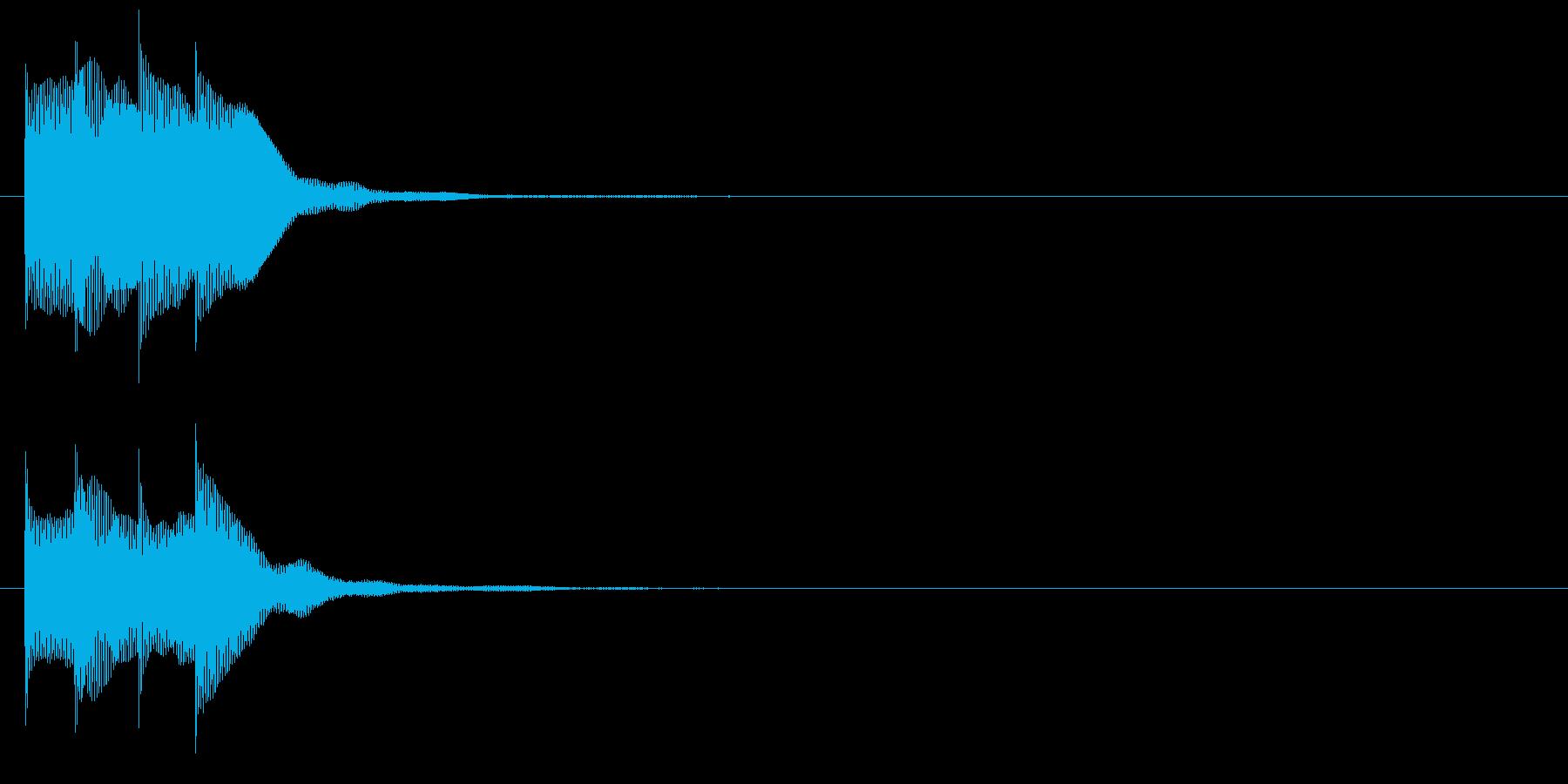 アラーム音07 マレット(maj)の再生済みの波形