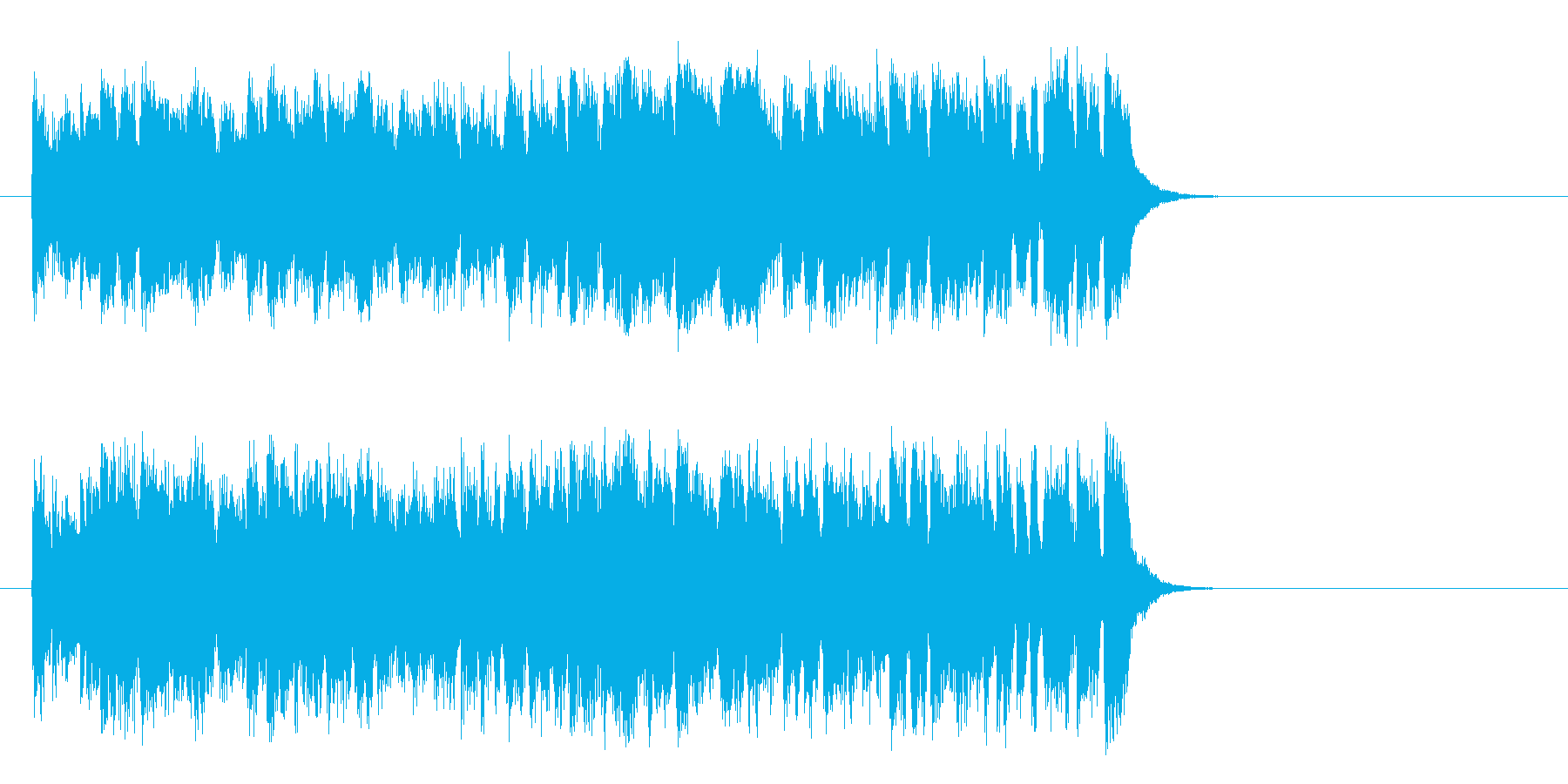リゾート風の軽快なポップ(サビ)の再生済みの波形