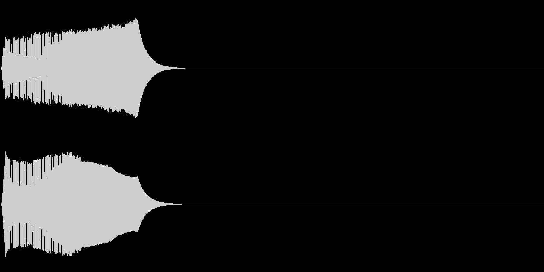 ジャンプ音02(ピヨッ)の未再生の波形