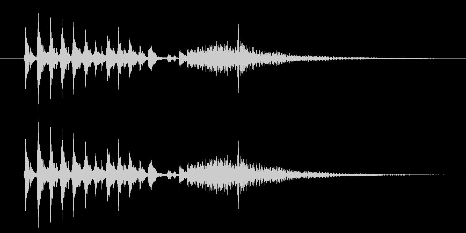 和風、琴タラララ-カーンの未再生の波形