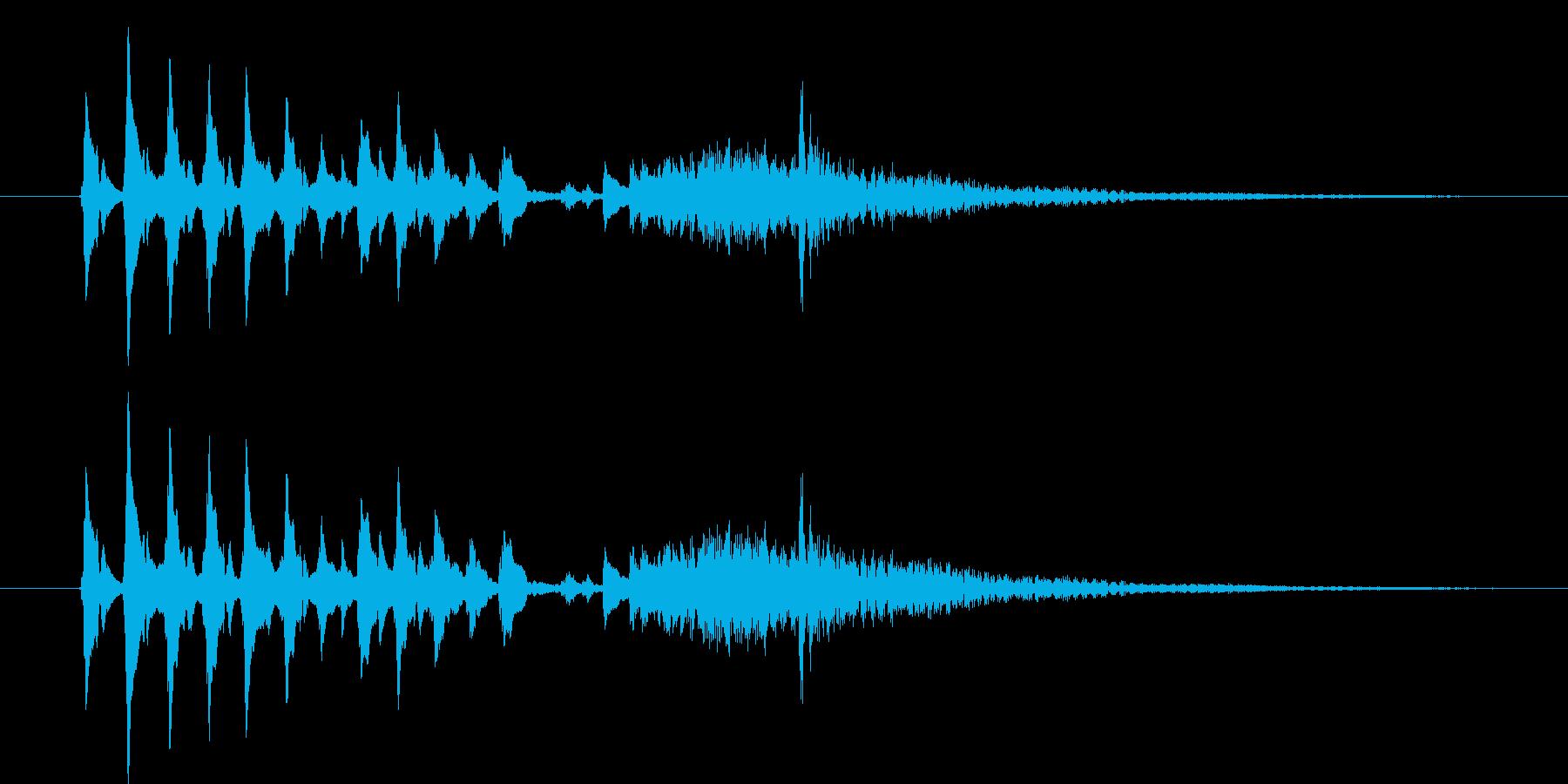 和風、琴タラララ-カーンの再生済みの波形