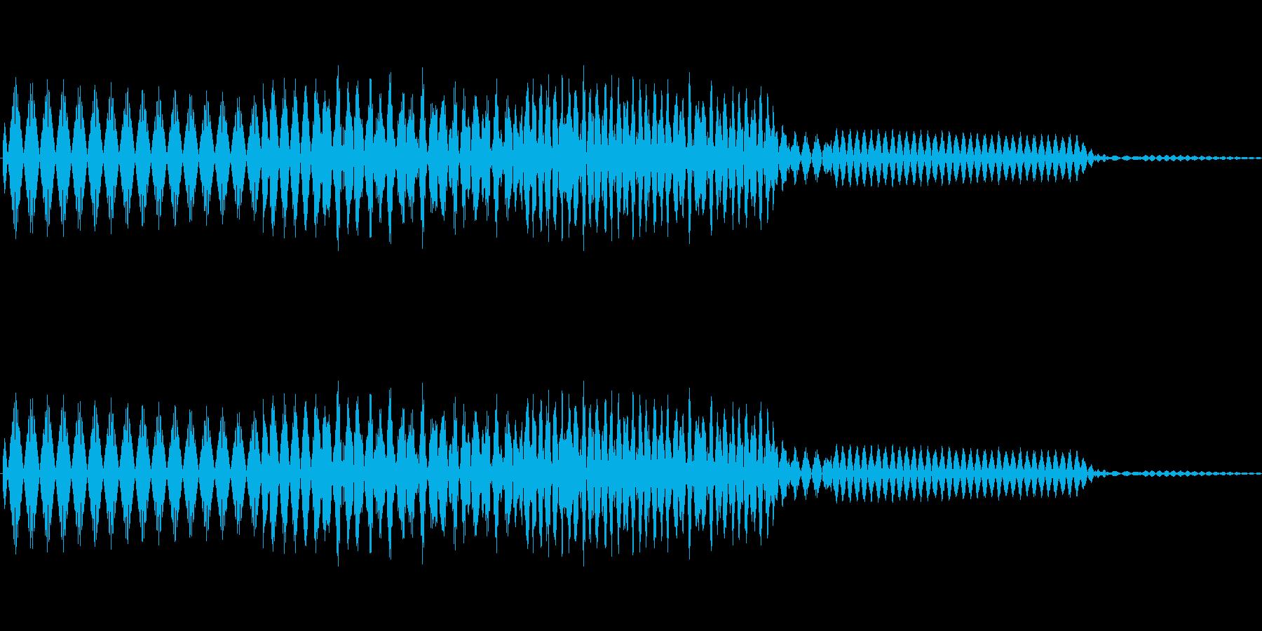 ボタン決定音システム選択タッチ登録C10の再生済みの波形