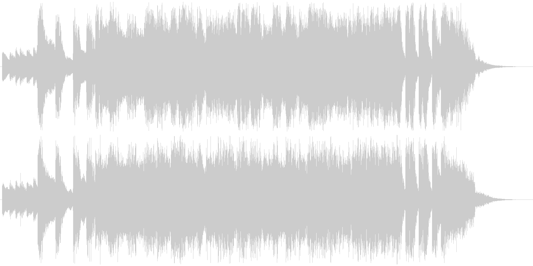 フワフワROCKアニメ系アイドルジングルの未再生の波形