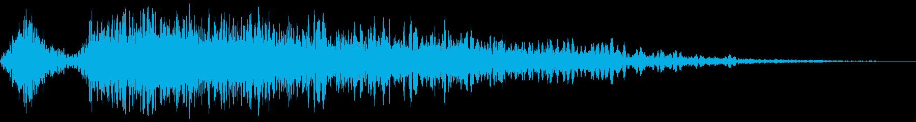 恐怖、驚きの印象付け効果(ステレオ)の再生済みの波形