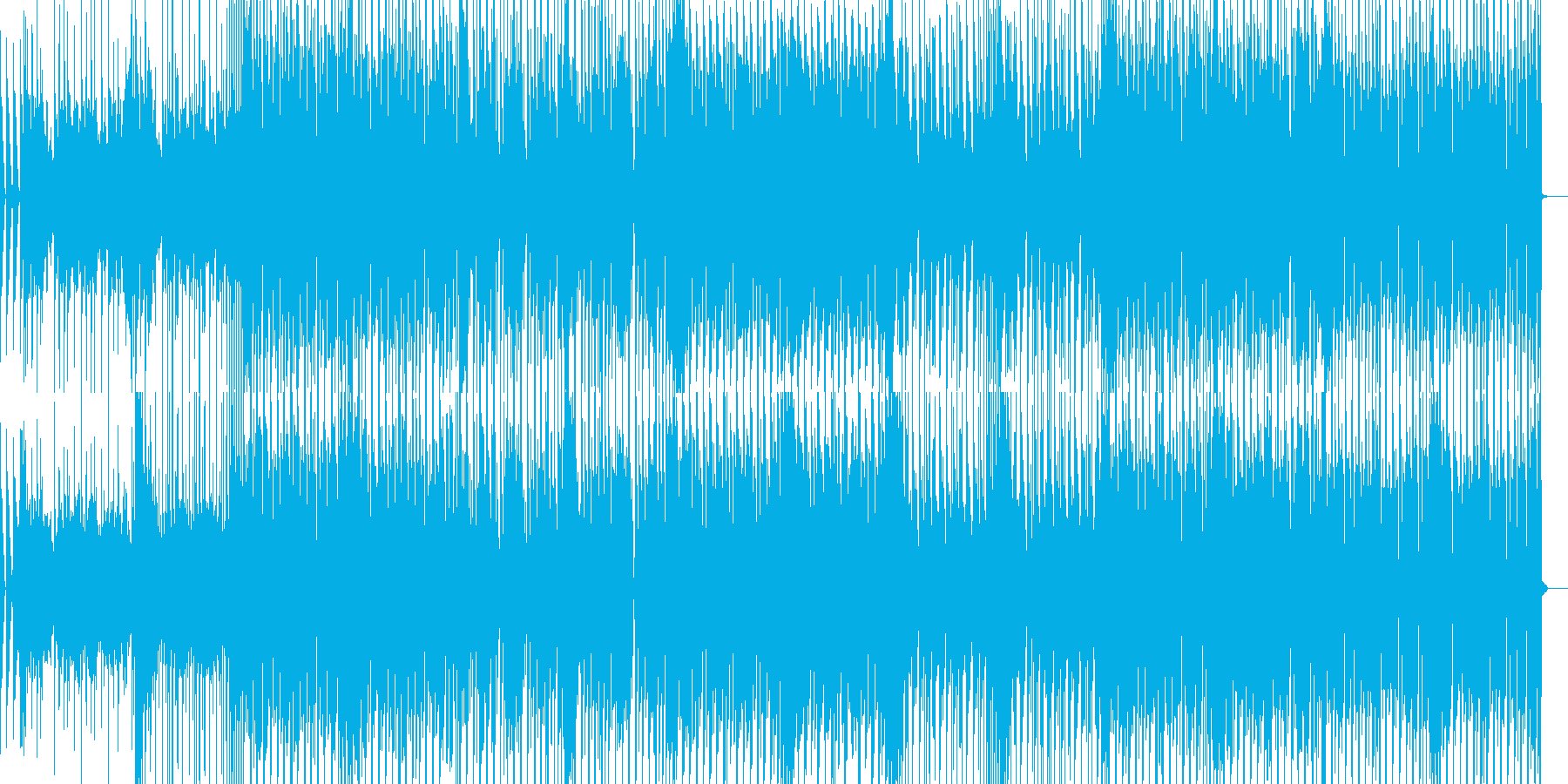 哀愁感と情熱あふれる心をイメージする曲の再生済みの波形