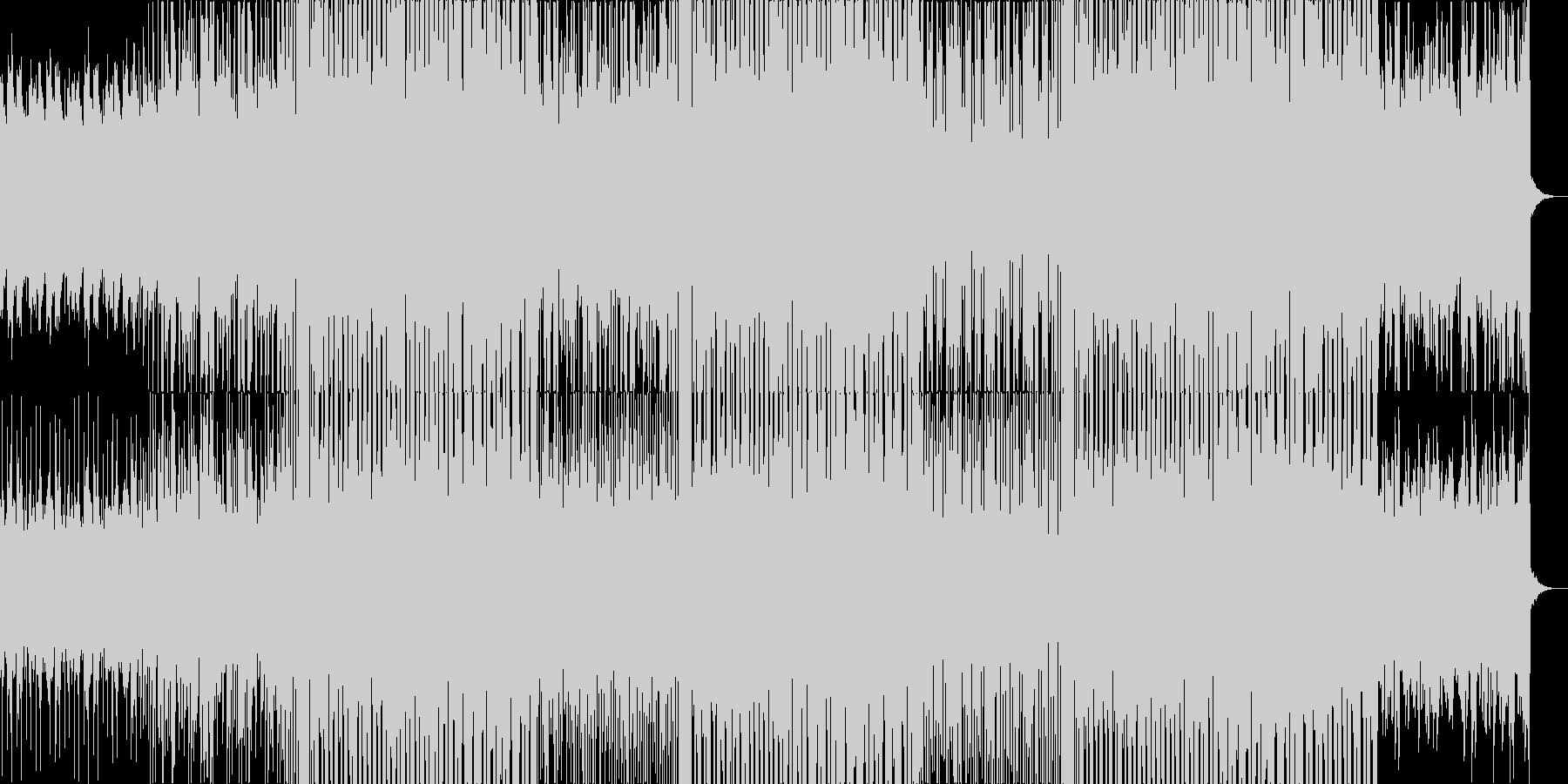 風景が移り変わる映像に ドラムンベースの未再生の波形