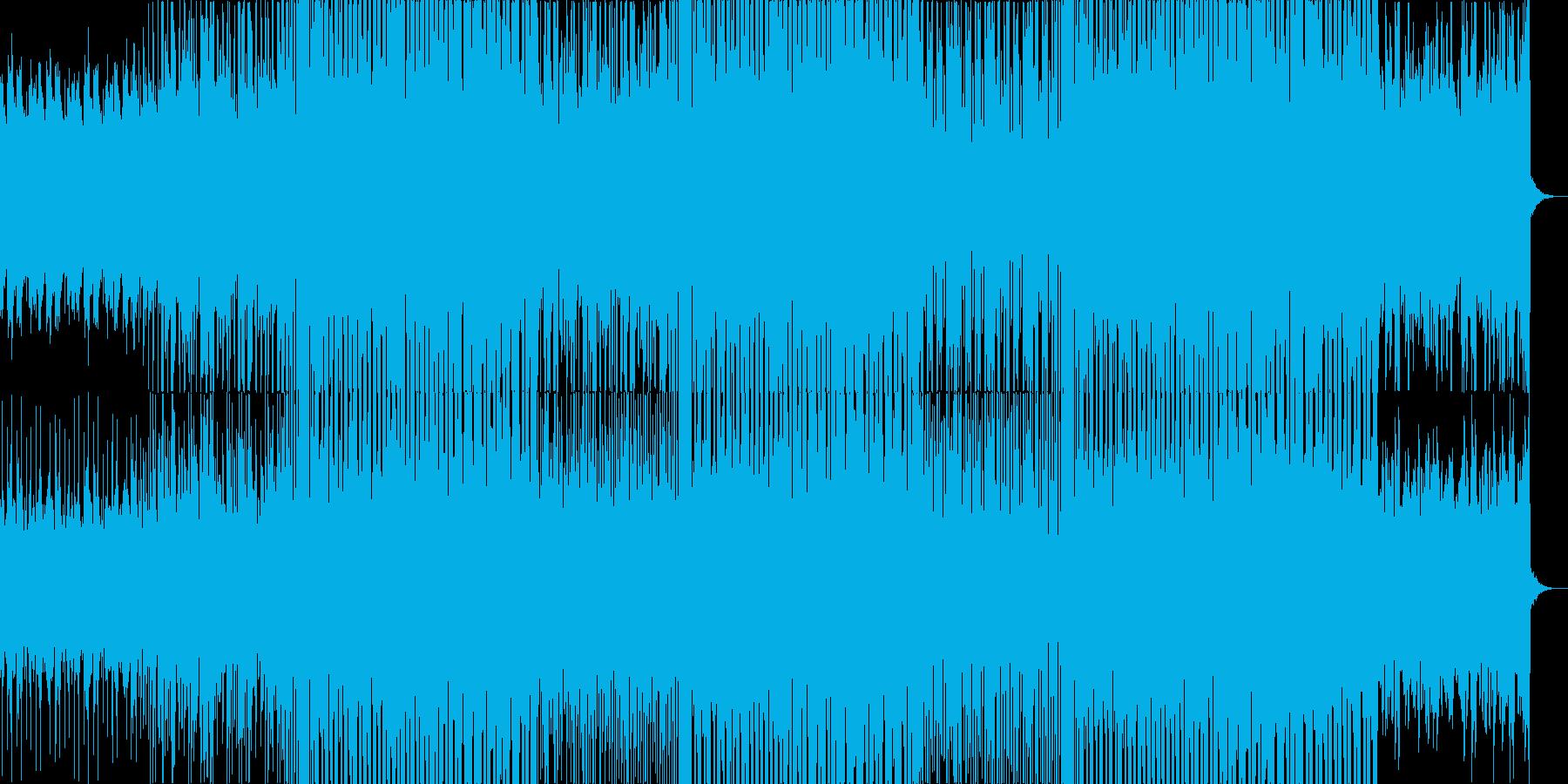 風景が移り変わる映像に ドラムンベースの再生済みの波形