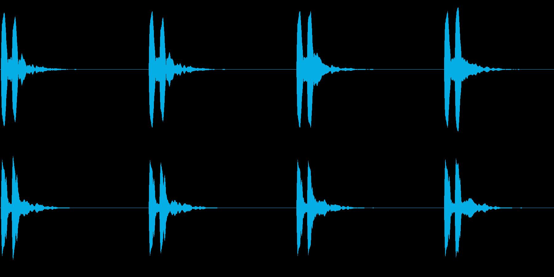 横断歩道 誘導音03-4(ループ) の再生済みの波形