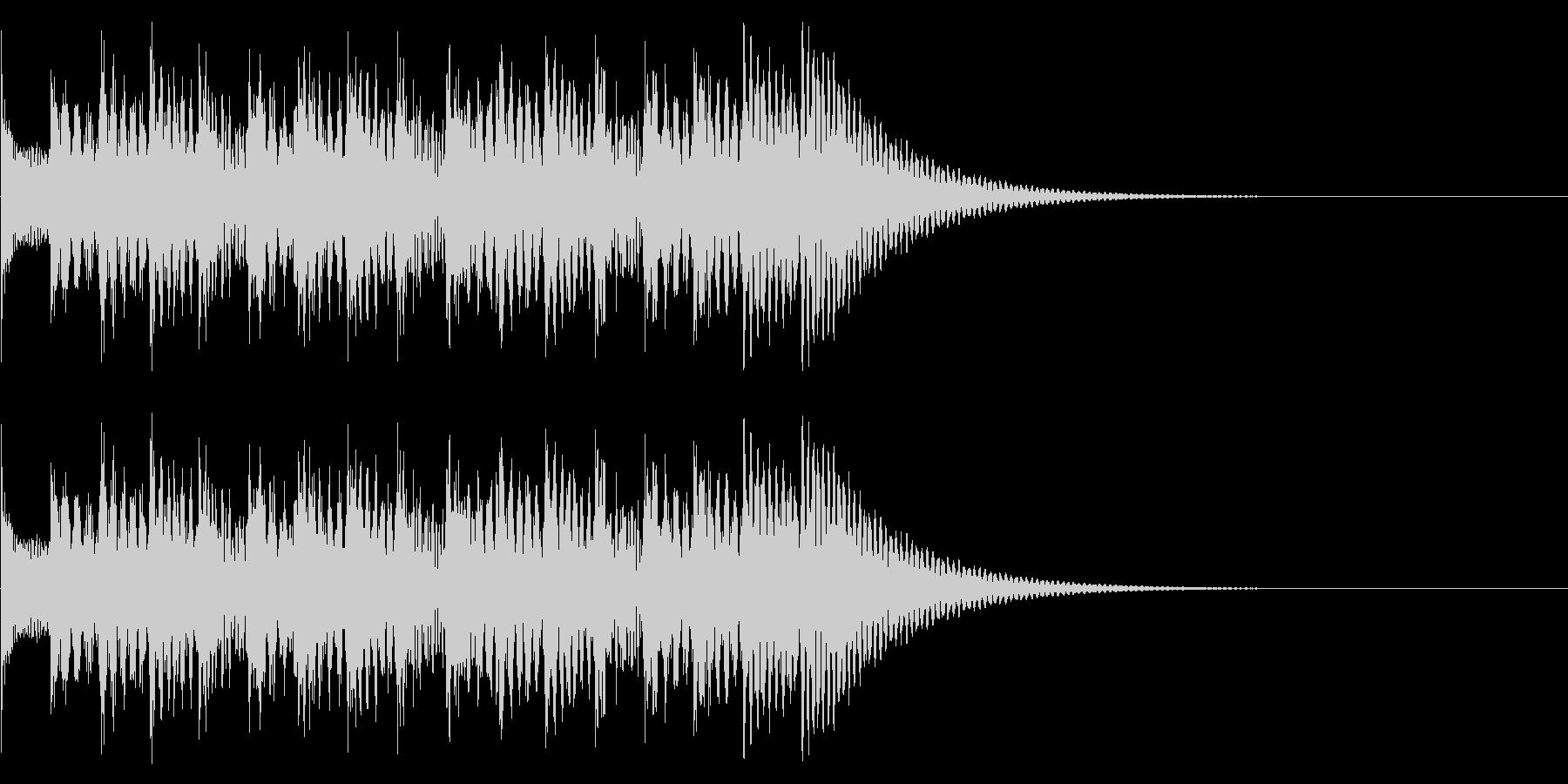 シンプルな効果音 マリンバの魔法音の未再生の波形