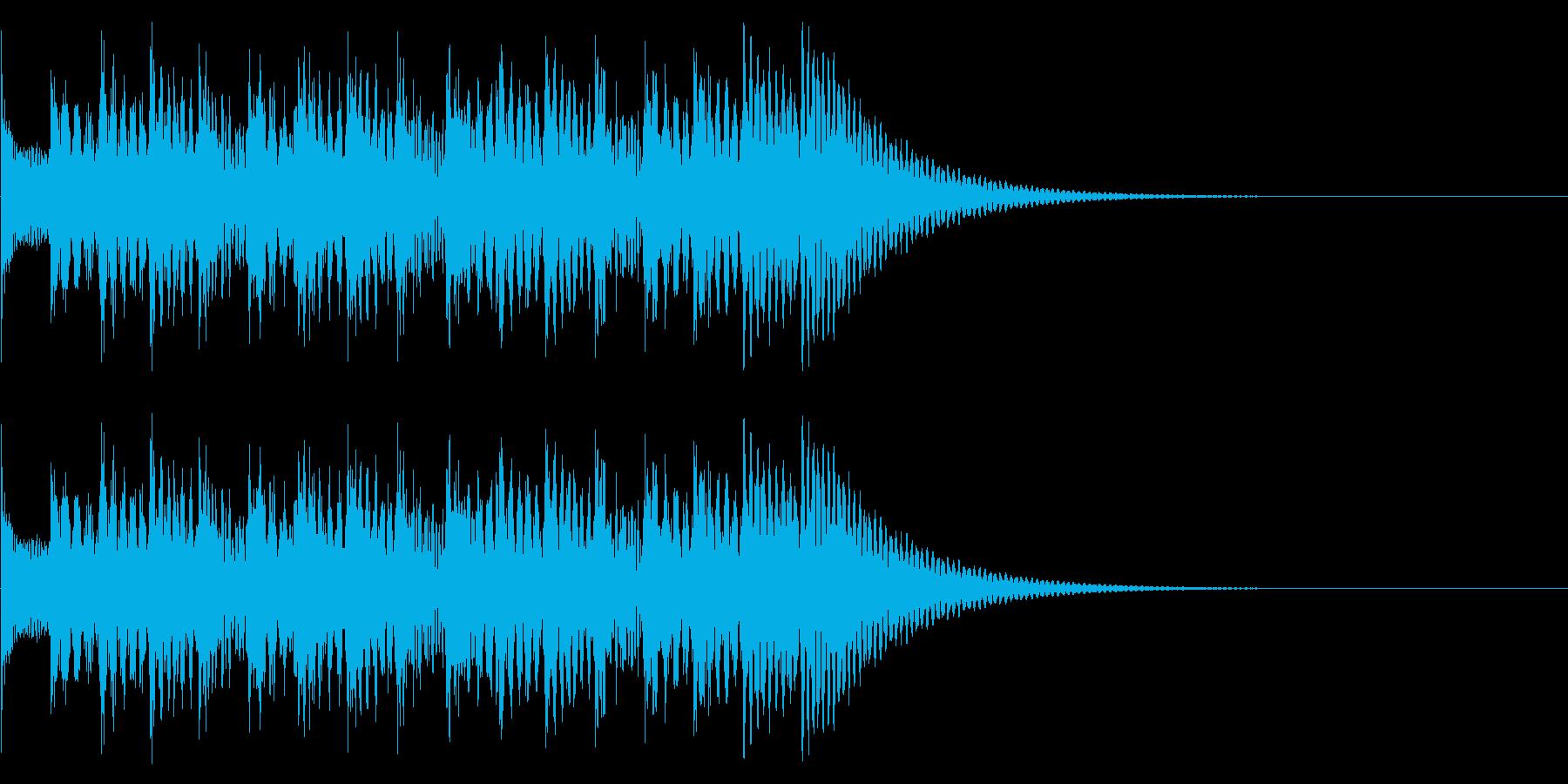 シンプルな効果音 マリンバの魔法音の再生済みの波形