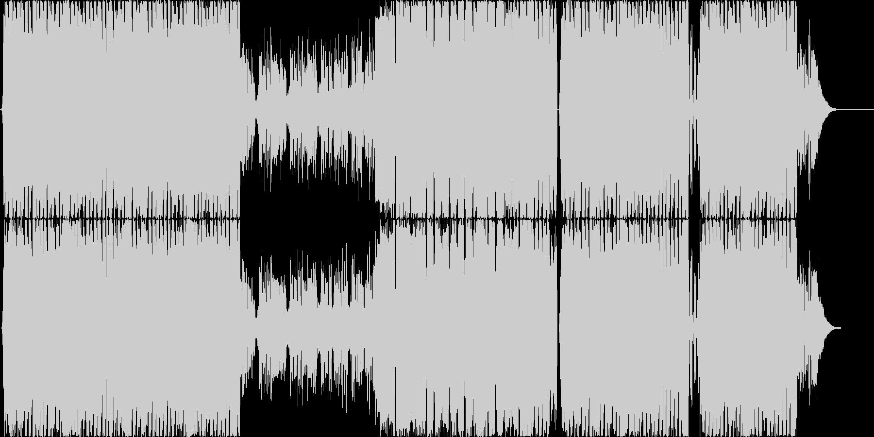 優しげなトロピカルテイストのEDMの未再生の波形