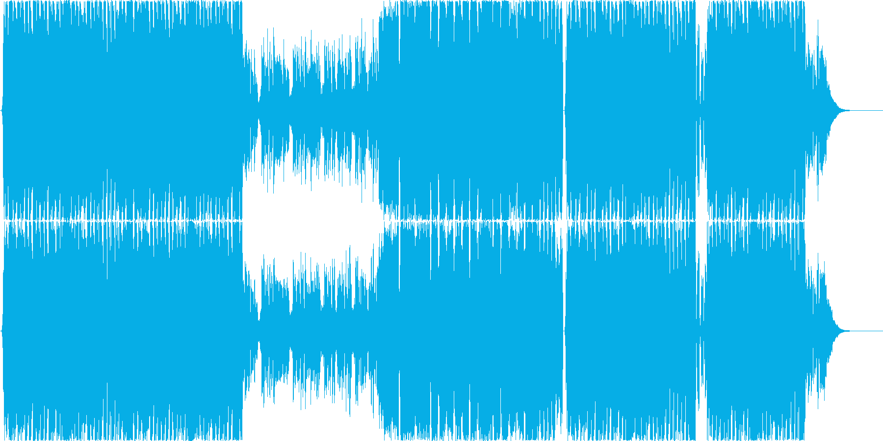 優しげなトロピカルテイストのEDMの再生済みの波形