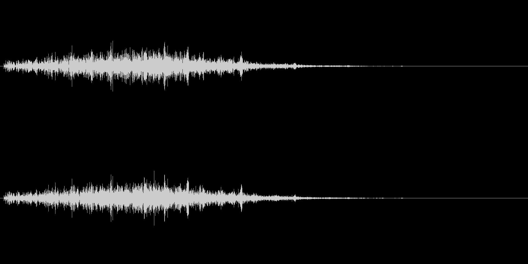 ポコポコ…(毒・マグマ魔法、エフェクト)の未再生の波形