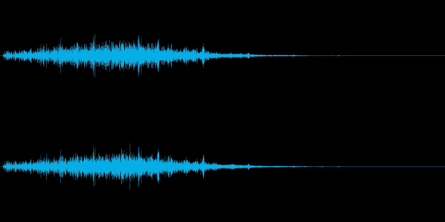 ポコポコ…(毒・マグマ魔法、エフェクト)の再生済みの波形