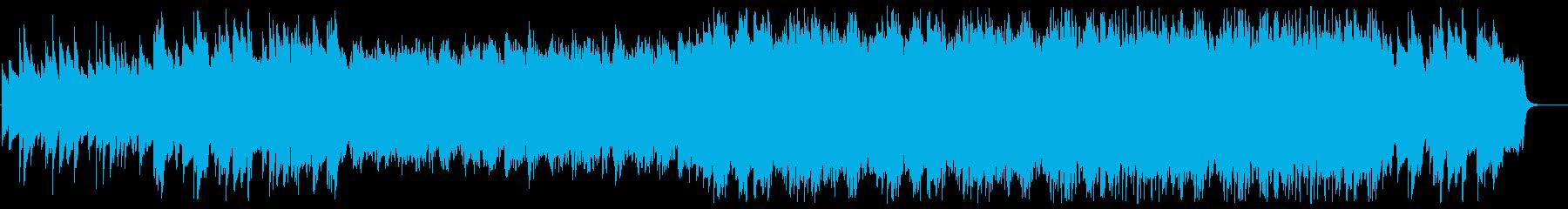 ゆったり落ち着いたベルの曲の再生済みの波形