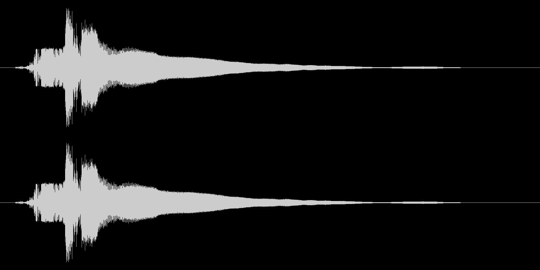 カキーン!(刀や剣のインパクト等) 01の未再生の波形