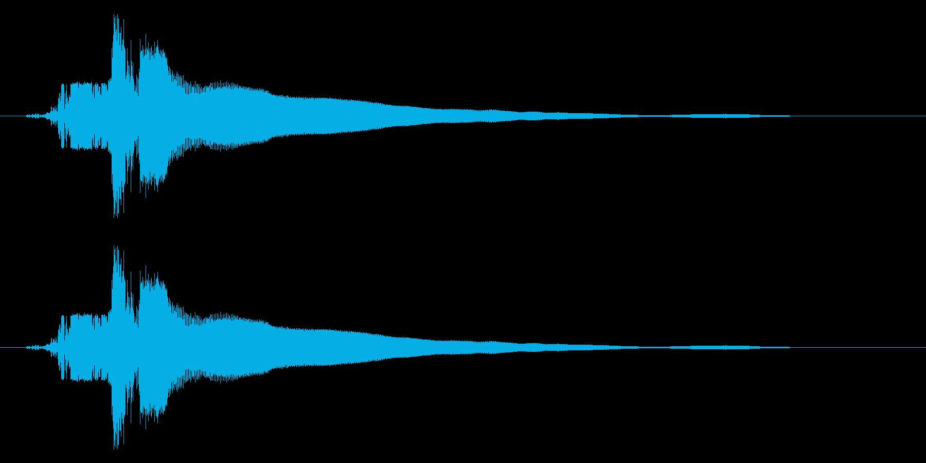 カキーン!(刀や剣のインパクト等) 01の再生済みの波形